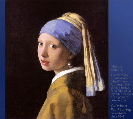 Girl with a Pearl Earring by Vermeer, circa 1665